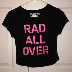 """Bethany Mota """"Rod All Over"""" Cropped Shirt"""